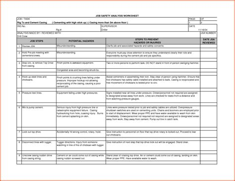 collection of job safety analysis worksheet bluegreenish