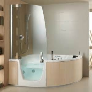 Corner Shower Baths With Shower Screen Teuco Curve Shaped Corner Walk In Baths With Shower Screen