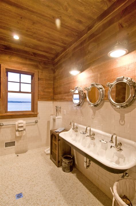 rustic beach bathroom kohler brockway sink bathroom rustic with beach house