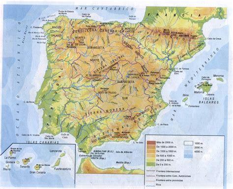 atlas de espana y mapa f 237 sico de espa 241 a tama 241 o completo