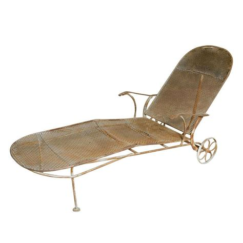 chaise lounge wrought iron rustic wrought iron chaise lounge at 1stdibs