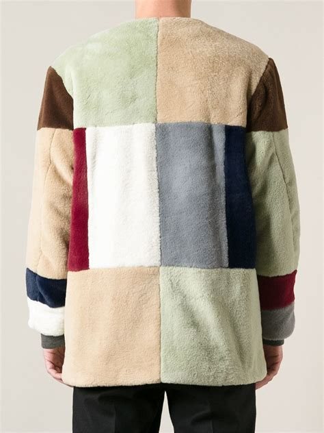 Patchwork Coat - gosha rubchinskiy patchwork coat for lyst