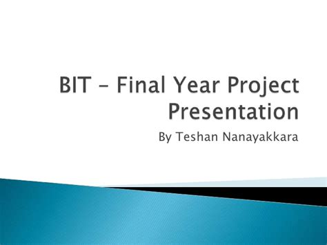 Ppt Templates For Final Year Project | final project viva presentation