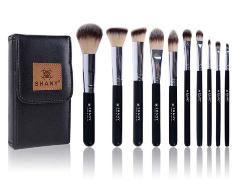 shany black ombr 201 pro 10 pc essential brush set with