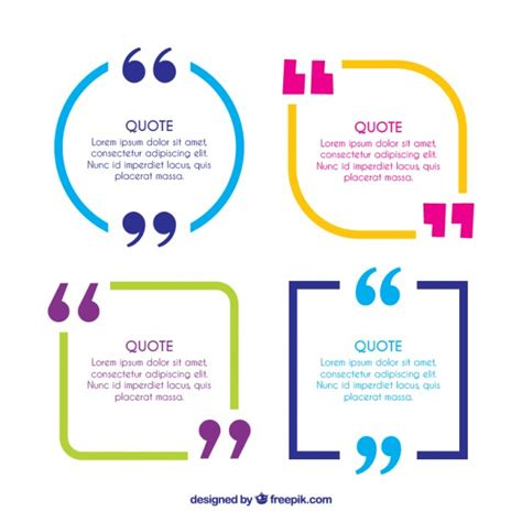 quotation marks layout colorful quote frames with quotation marks vector free