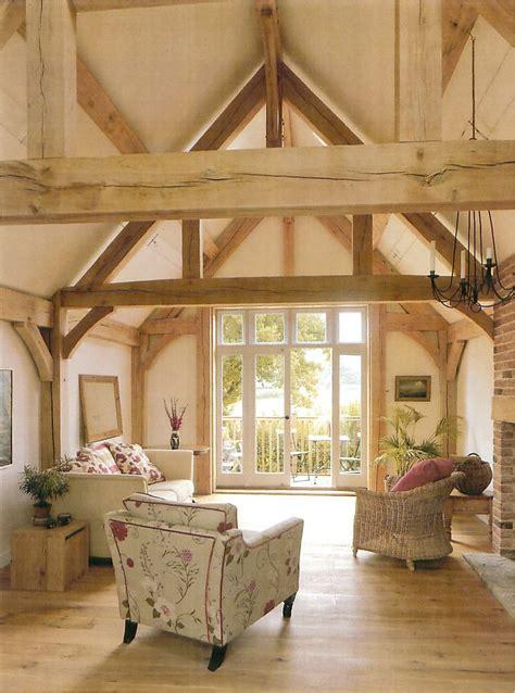 vaulted ceiling bedroom oak framing www borderoak com border oak barn interior sitting room with vaulted