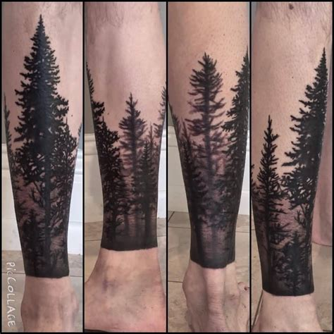 tattoo on leg 12 forest tattoos on leg
