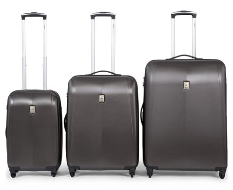delsey extendo 3 4w expandable trolley 3 set