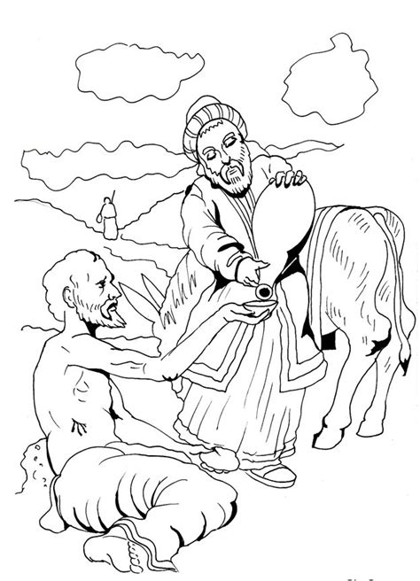 Good Samaritan Do Helping Coloring Pages The Samaritan Coloring Page