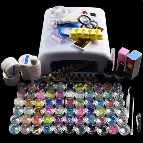 gel nail kit with uv light diy full set nail style nail gel polish manicure kit with