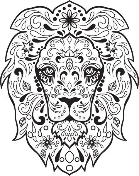 day of the dead cat coloring pages sugar skull advanced coloring 8 coloring colouring