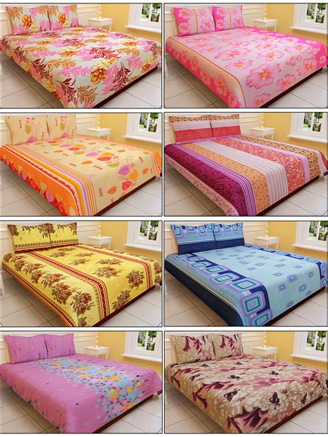 double bed sheets buy luxury queen 8 designer double bed sheets with 16