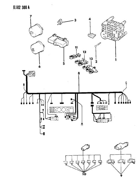 wiring harness diagram for 1990 jeep yj get free image