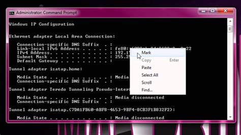 Find Using Address Find Your Ip Address Using Command Prompt Cmd Hack