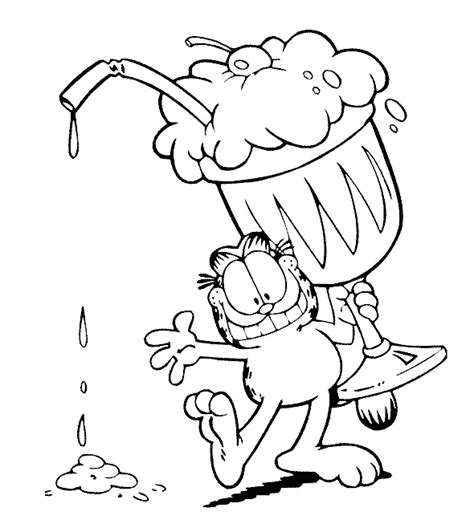 baby garfield coloring pages garfield coloring pages and book uniquecoloringpages