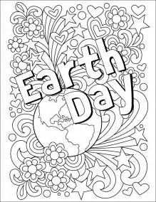 Earth day coloring page art projects for kids