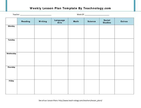 Weekly Lesson Plan Template   beepmunk