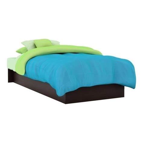 south shore twin platform bed south shore libra kids twin platform bed in chocolate