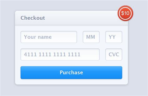 Html5 Credit Card Form Template 23 Free Html5 Css3 Checkout Forms