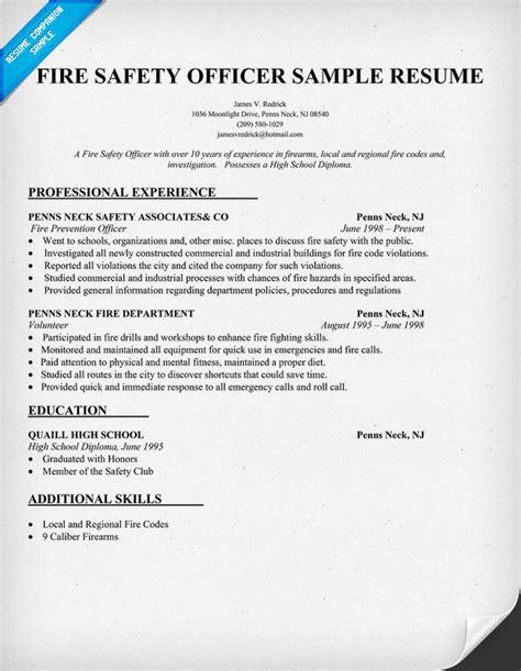 Safety Resume Sample – Environmental Health Safety Sample Resume