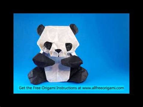 How To Make A Panda Out Of Paper - how to make an origami panda easy