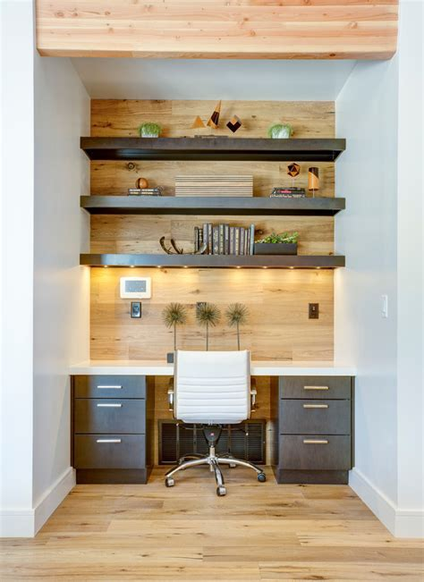 Built In Desk Ideas For Small Spaces 57 Cool Small Home Office Ideas Digsdigs