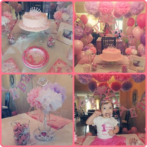 themes first birthday party baby girl my baby girl s first birthday princess party first