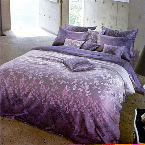 covers for comforters 1100tc quality satin gradient purple lavender floral