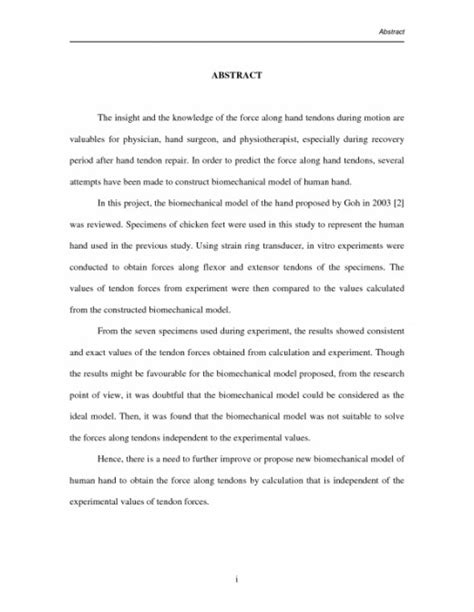 abstract for a research paper exle research paper abstract exle