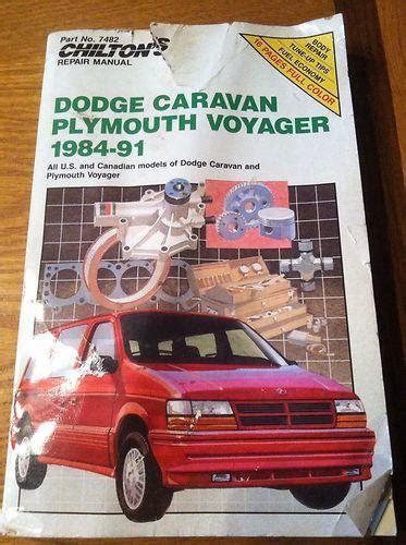 1984 1985 dodge caravan plymouth voyager repair manual by chilton ebay sell dodge caravan and plymouth voyager 1984 91 chilton repair manual motorcycle in marlton new