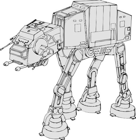 imperial walker coloring pages free coloring pages of wars atat