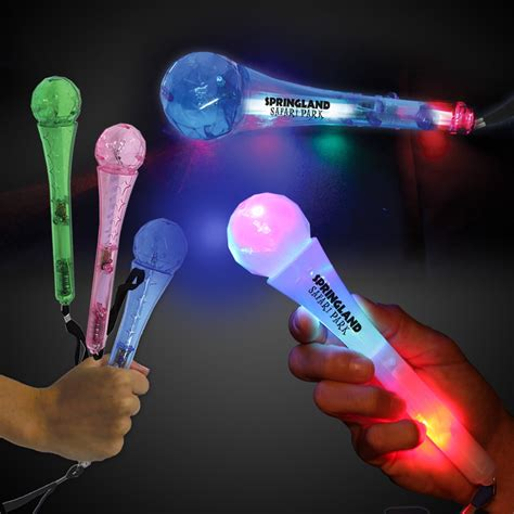 light up led toy microphones 9 inches light up novelties