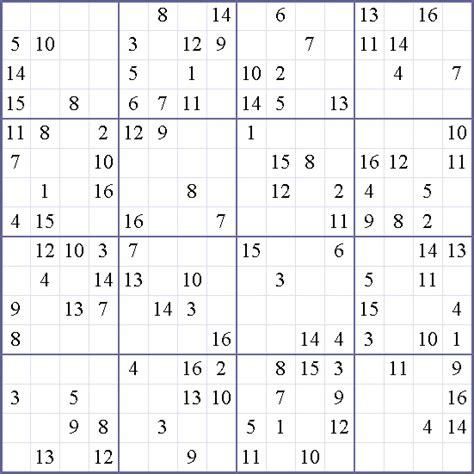 printable sudoku with 16 numbers 16x16 sudoku