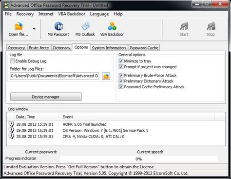 reset vba password full version office password crackers to crack excel word ppt password