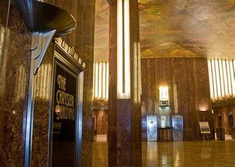 chrysler building lobby the chrysler building s lobby features impressive