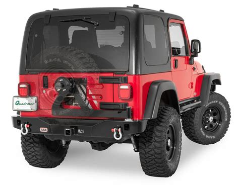 jeep yj rear bumper arb rear modular bumper swing away wheel carrier in