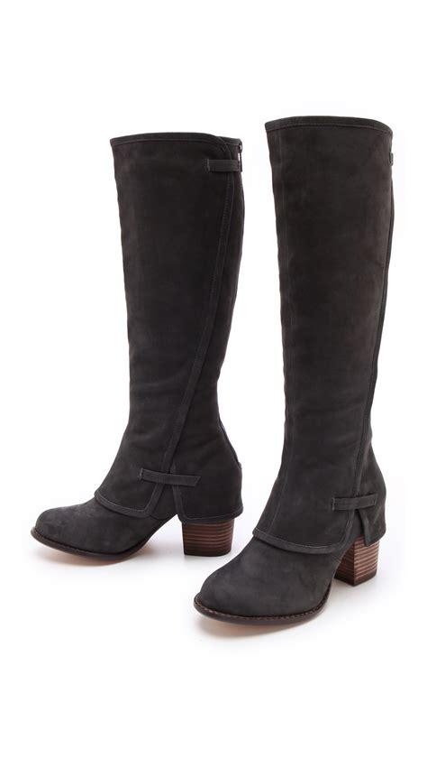 shoeniverse splendid black lima knee high boots