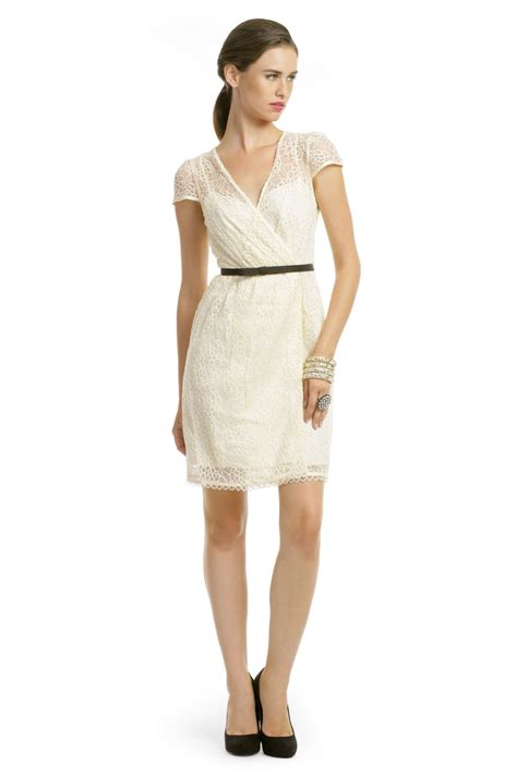 Dress Reny ivory lace flutter dress by milly for 53 rent the runway