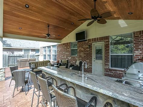 outdoor covered patio covered patio with outdoor kitchen