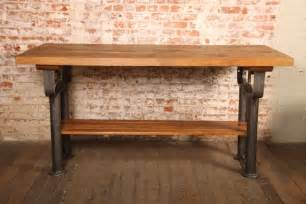 american made vintage industrial work table island at 1stdibs