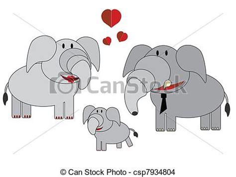 imagenes de la familia de animales eps vector de animales elefantes familia familia