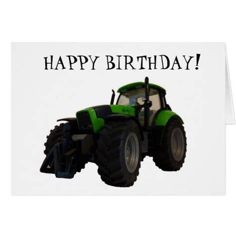 Tractor Birthday Card Tractor Birthday Card Zazzle