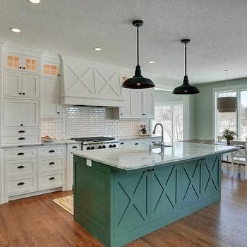 green kitchen island cambrian black granite transitional kitchen benjamin woodlawn blue garrison