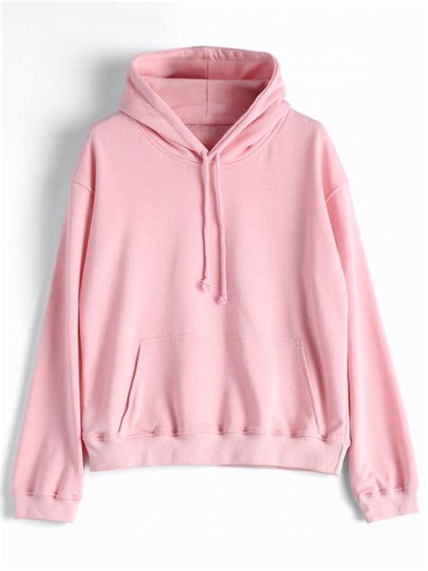 Hoodie Casual casual kangaroo pocket plain hoodie pink hoodies