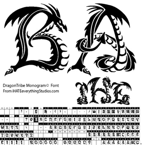 tattoo dragon font tribal tattoo fonts free download editing images in word