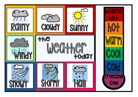 printable weather poster classroom weather chart clothes peg chart classroom