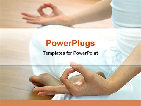 template powerpoint yoga powerpoint template woman doing yoga only showing legs