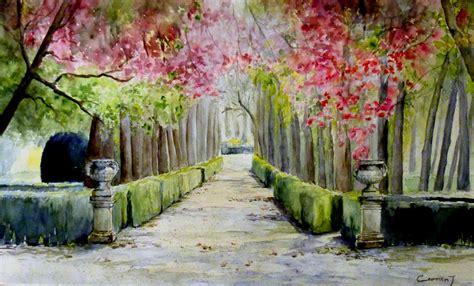 imagenes jardines aranjuez carmen jim 233 nez acuarelas encuentro en los jardines de