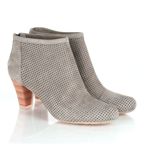 cer grey diana women s perforated ankle boot