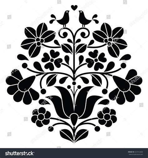 black embroidery pattern kalocsai black embroidery hungarian floral folk pattern